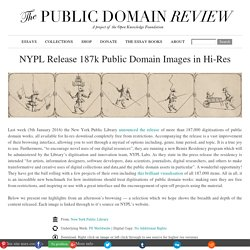 NYPL Release 187k Public Domain Images in Hi-Res