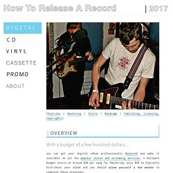An indie guide to releasing your music