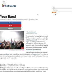 Tour Press Release Template for Bands and Musicians
