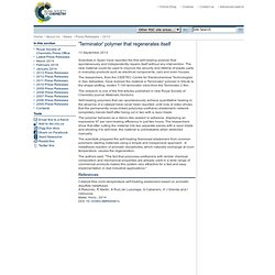 Press release: Terminator polymer that regenerates itself