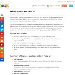 Release update: New Yodiz UI