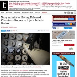 Navy Admits to Having Released Chemicals Known to Injure Infants' Brains