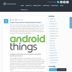 Google released Android Things Developer Preview 3 - MobilMindz