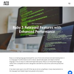 Ruby 3 Released Features with Enhanced Performance