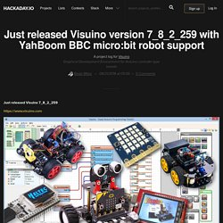 Just released Visuino version 7_8_2_259 with YahBoom BBC micro:bit robot support