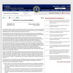 FBI Releases 2014 Crime Statistics