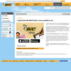 Actualités - L'application My BIC® Notes* vous simplifie la vie