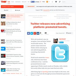 Twitter releases new advertising platform: promoted tweets.