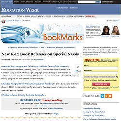 New K-12 Book Releases on Special Needs - BookMarks
