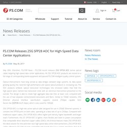FS.COM Releases 25G SFP28 AOC for High-Speed Data Center Applications