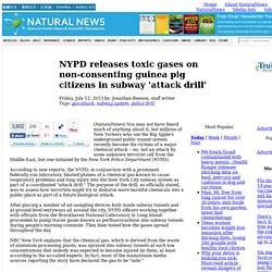 NYPD releases toxic gases on non-consenting guinea pig citizens in subway 'attack drill'
