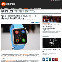 Apple releases WatchKit developer tools alongside first iOS 8.2 beta