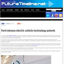 Ford releases electric vehicle technology patents