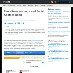 Plaxo Releases Improved Social Address Book – WebWorkerDaily - F