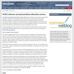 WJEC releases 2010 journalism education census