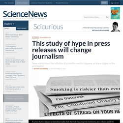 This study of hype in press releases will change journalism