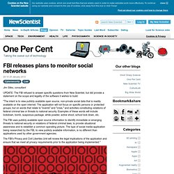 One Per Cent: FBI releases plans to monitor social networks