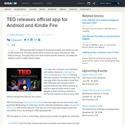 TED releases official app for Android and Kindle Fire — Online Video News