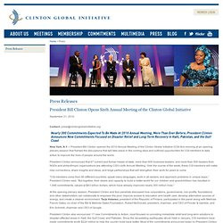 Clinton Global Initiative Press Center - Press Releases