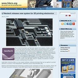Neotech lance un nouveau système pour l'électronique d'impression 3D