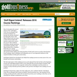 'Golf Digest Ireland' Releases 2016 Course Rankings « Golf Business News