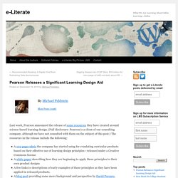 Pearson Releases a Significant Learning Design Aid -e-Literate
