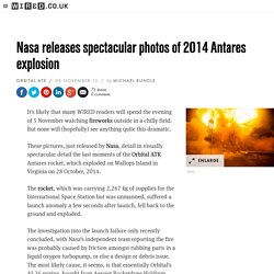 Nasa releases spectacular photos of 2014 Antares explosion