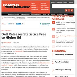 Dell Releases Statistica Free to Higher Ed