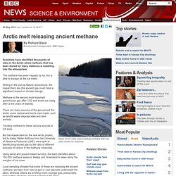 Arctic melt releasing ancient methane
