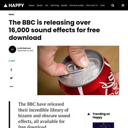 The BBC is releasing over 16,000 sound effects for free download