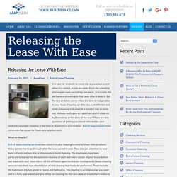 Releasing the Lease with Ease - ASAP CLEAN Blog