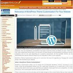 Why Wordpress Theme Customization is Necessary?