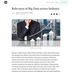 Relevance of Big Data across Industry - Kalinga University Reviews - Medium