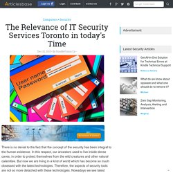 IT Security Services Toronto for safety at best