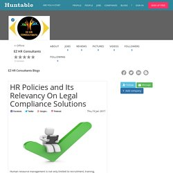 HR Policies and Its Relevancy On Legal Compliance Solutions
