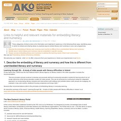 Links to helpful and relevant materials for embedding literacy and numeracy | Ako Aotearoa