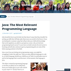Java: The Most Relevant Programming Language