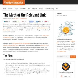 The Myth of the Relevant Link | Virante Orange Juice