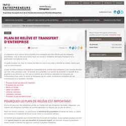 Plan de relève et transfert d'entreprise