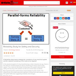 Reliability Study for Safety and Security Article - ArticleTed - News and Articles