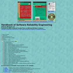 Book: Handbook of Software Reliability Engineering