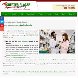 Safe and Reliable Source of Affordable Medicines