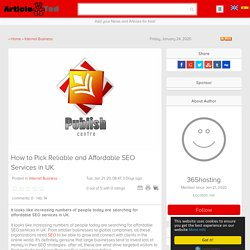 How to Pick Reliable and Affordable SEO Services in UK