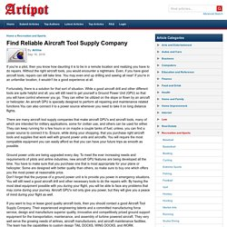 Find Reliable Aircraft Tool Supply Company