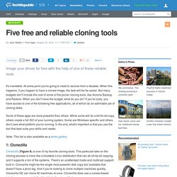 Five free and reliable cloning tools