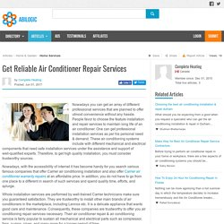 Get Reliable Air Conditioner Repair Services