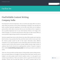 Find Reliable Content Writing Company India