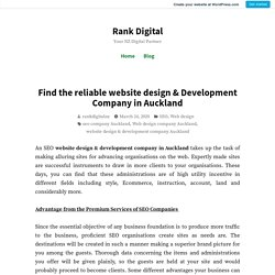 Find the reliable website design & Development Company in Auckland – Rank Digital