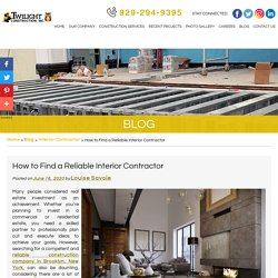 How to Find a Reliable Interior Contractor