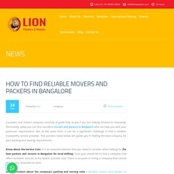 How To Find Reliable Movers And Packers In Bangalore